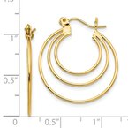 Quality Gold 14k Polished Circles Hoop Earrings