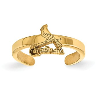 Gold-Plated Sterling Silver St. Louis Cardinals MLB Ring