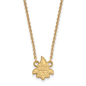 Gold University of New Orleans NCAA Necklace