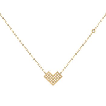 One Way Necklace in 14 KT Yellow Gold Vermeil on Sterling Silver