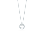 Roberto Coin 18Kt Gold Smiley Face Pendant With Diamonds