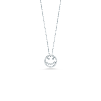 18Kt Gold Smiley Face Pendant With Diamonds