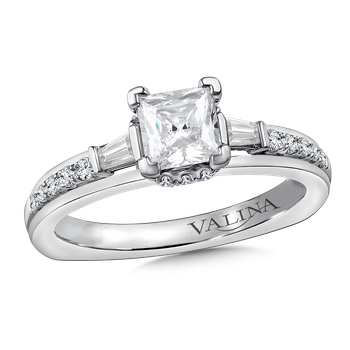 Diamond Engagement Ring Mounting in 14K White Gold (.36 ct. tw.)