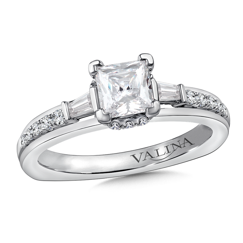 Valina Diamond Engagement Ring Mounting in 14K White Gold (.36 ct. tw.)