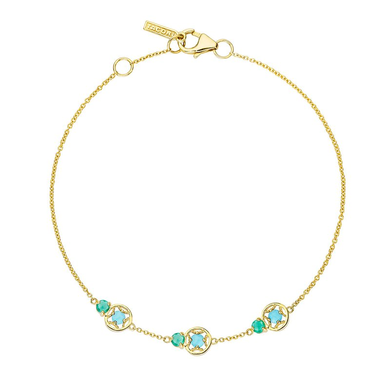 Tacori Fashion Petite Gemstone Bracelet with Turquoise and Green Onyx