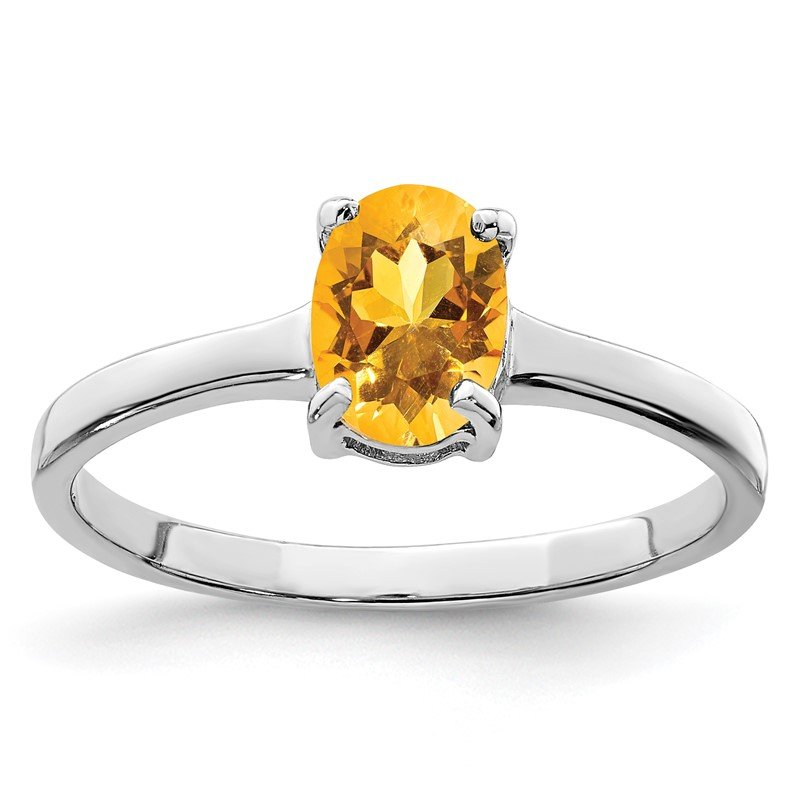 Lester Martin Online Collection Sterling Silver Rhodium Citrine Ring