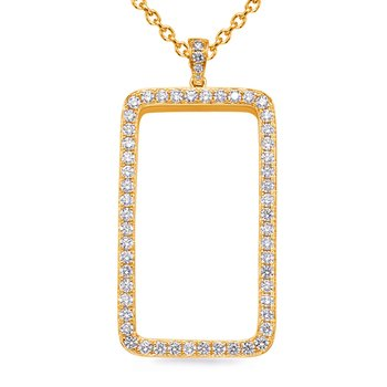 Yellow Gold Diamond Pendant