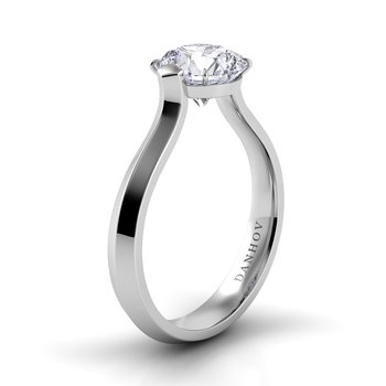 Classico Knife Edge Engagement Ring
