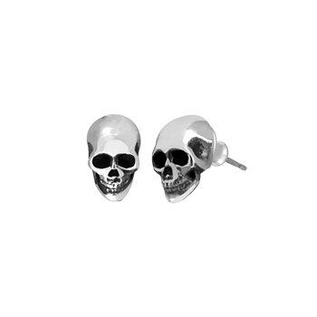 Small Skull Post Earrings