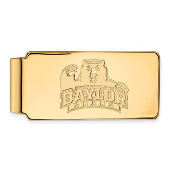 Gold-Plated Sterling Silver Baylor University NCAA Money Clip