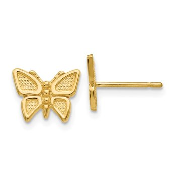 14k Polished Butterfly Post Earrings