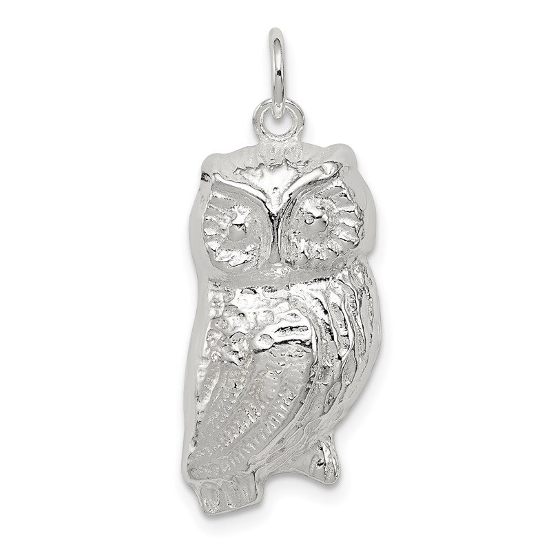 J.F. Kruse Signature Collection Sterling Silver Owl Charm