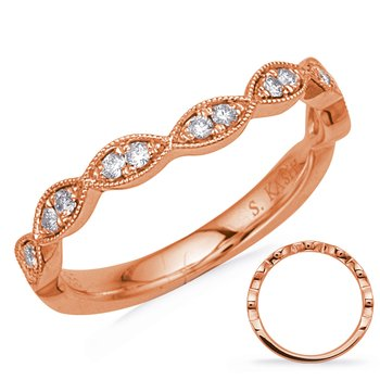 Rose Gold Matching Band Curved
