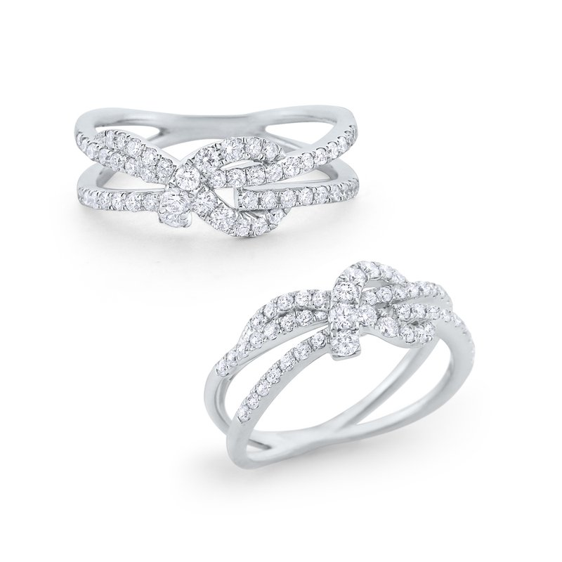 KC Designs Diamond Love Knot Ring Set in 14 Kt. Gold