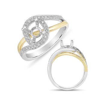 White & Yelllow Gold Engagement Ring