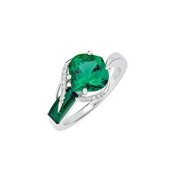 Emerald Ring-CR11877WEM