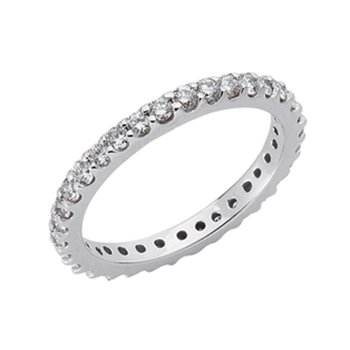 Platinum Eternity Band Shared Prong