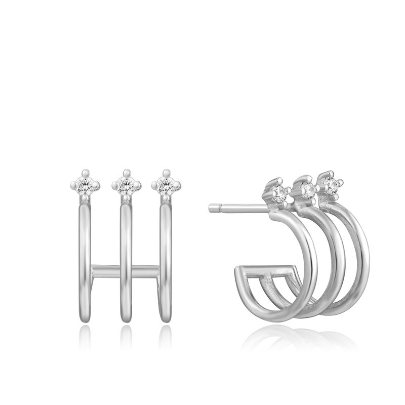 Ania Haie Triple Mini Hoop Stud Earrings