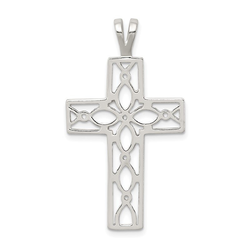 Arizona Diamond Center Collection Sterling Silver Polished Cross Pendant