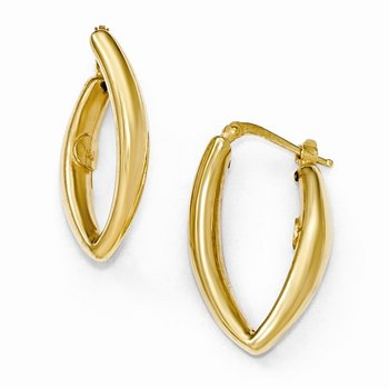 Leslie's Sterling Silver Gold-plated Hoop Earrings
