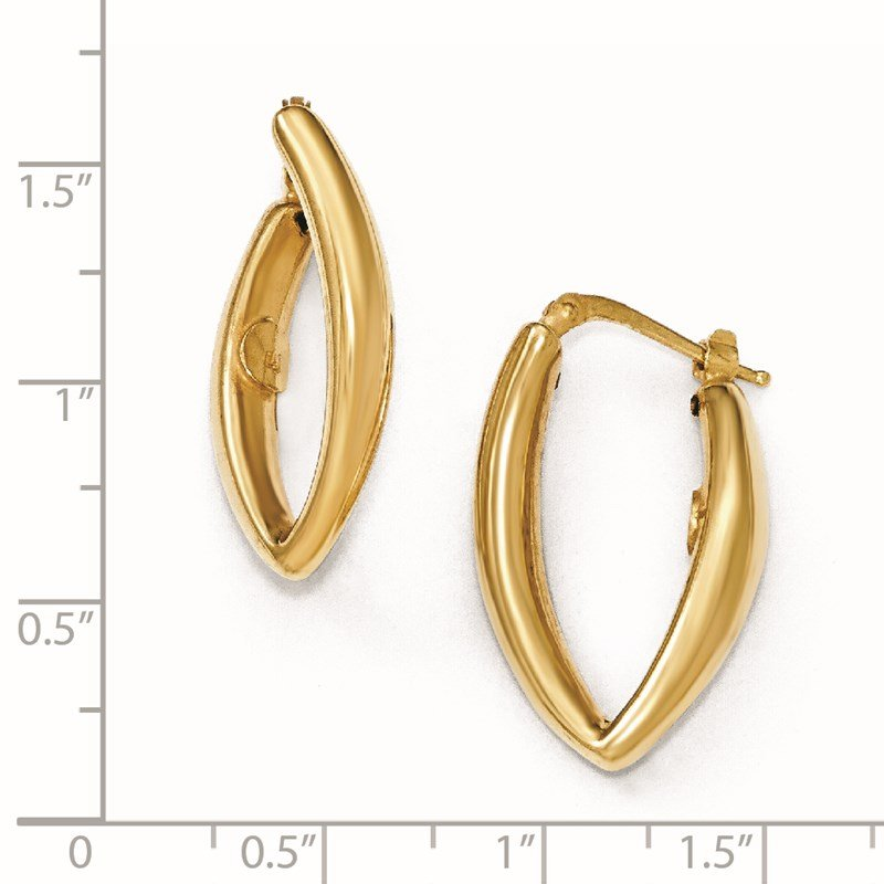 Leslie's Leslie's Sterling Silver Gold-plated Hoop Earrings