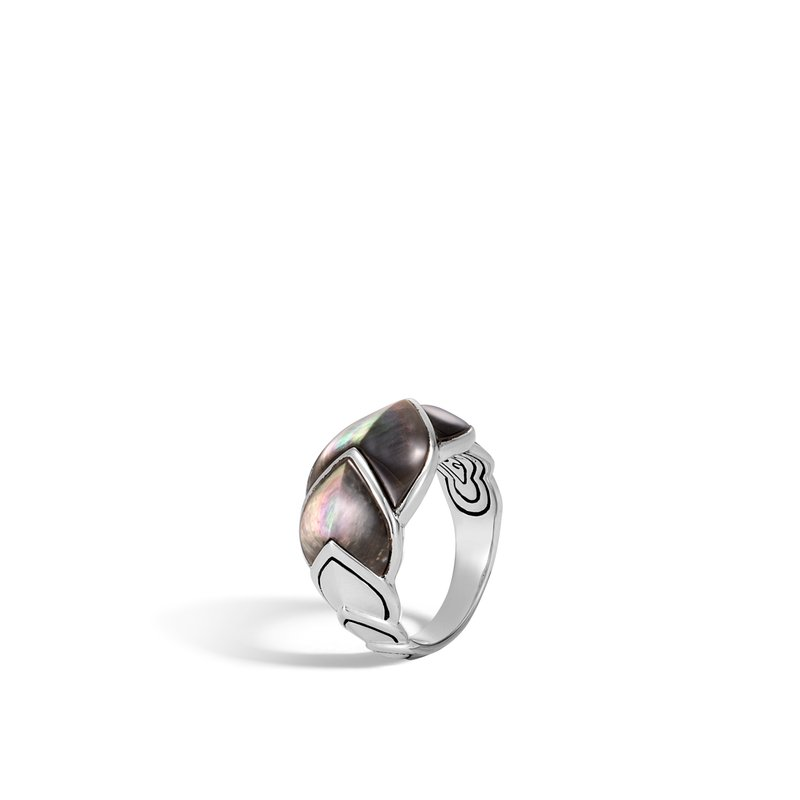 JOHN HARDY Legends Naga 15MM Ring in Silver with Gemstone