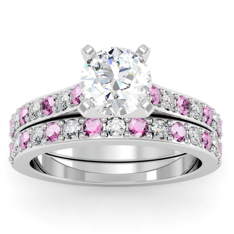California Coast Designs Pave Pink Sapphire & Diamond Band