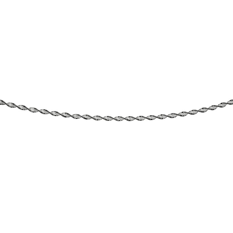 Royal Chain Silver Twisted Black & White Anklet