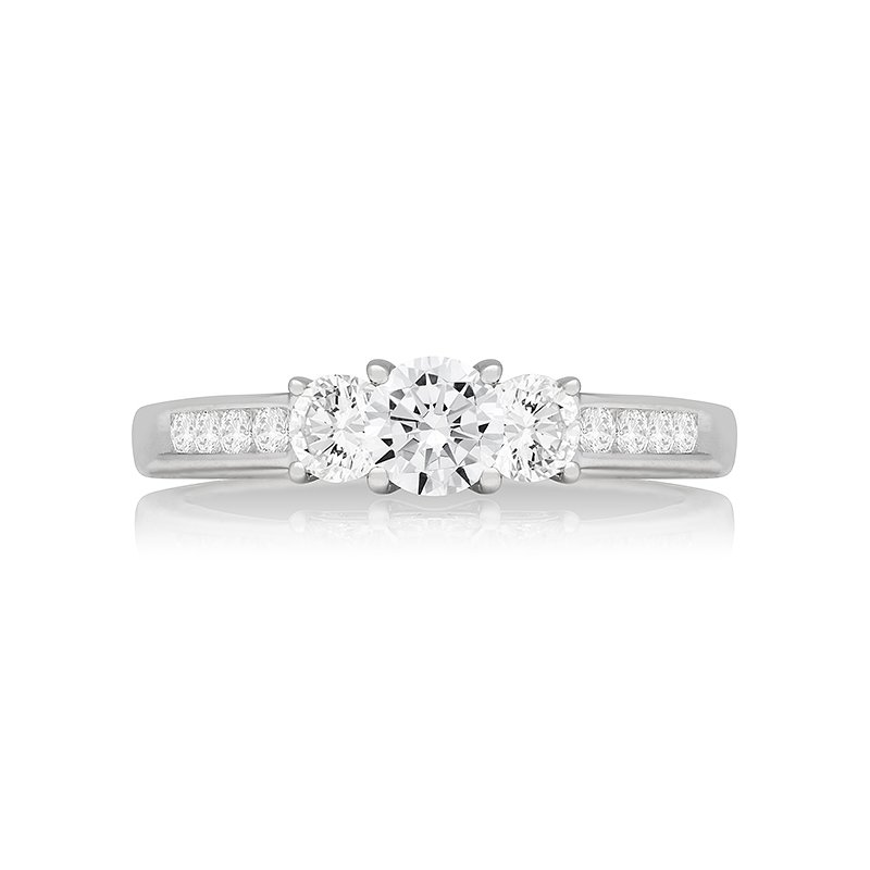 Veer Diamonds PRICILLA THREE STONE RING