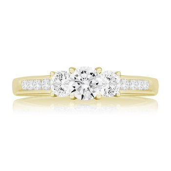 PRICILLA THREE STONE RING