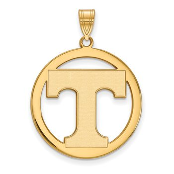 Gold-Plated Sterling Silver University of Tennessee NCAA Pendant