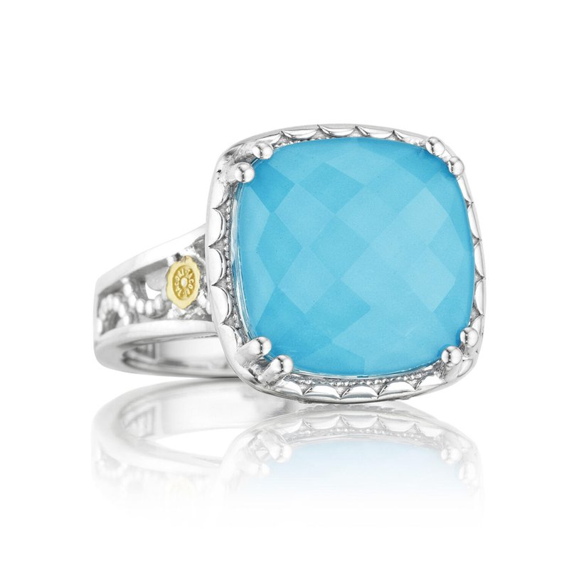Tacori Fashion Crescent Ceiling Ring featuring Neo-Turquoise