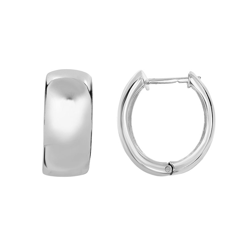 Royal Chain Silver 18x10mm Huggie Earring