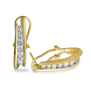 14K YG Diamond Journey By Pass Earring