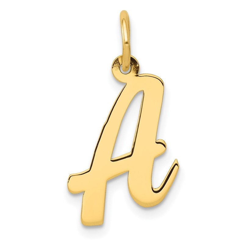 Quality Gold 14k Medium Script Letter A Initial Charm