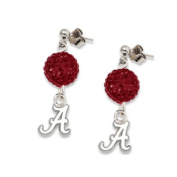 Sterling Silver University of Alabama NCAA Earrings