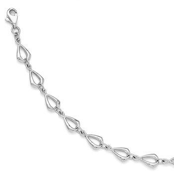 Leslie's 14K White Gold Polished Link Bracelet