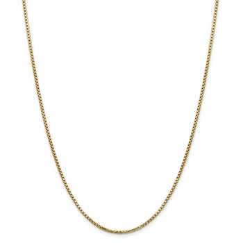 14k 1.75mm Semi-Solid Round Box Chain