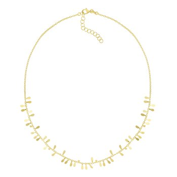 14K Gold Flora Strand Necklace