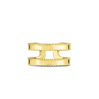 18KT GOLD DOUBLE SYMPHONY PRINCESS RING