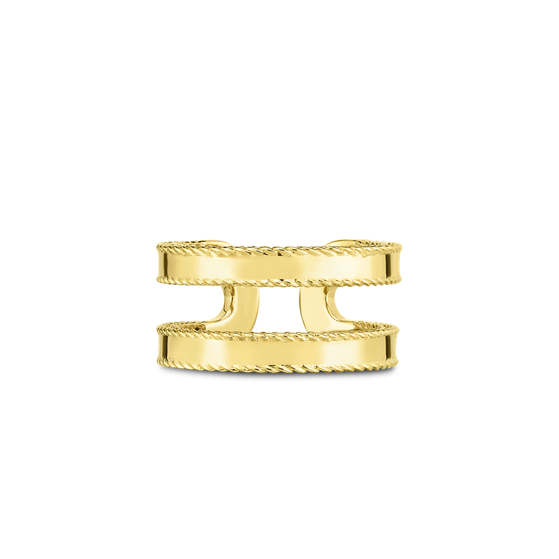 Roberto Coin 18KT GOLD DOUBLE SYMPHONY PRINCESS RING