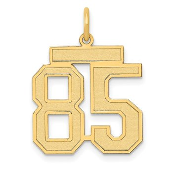 14k Medium Satin Number 85 Charm