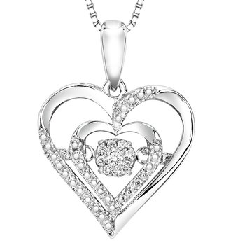 Silver Diamond Rhythm Of Love Pendant
