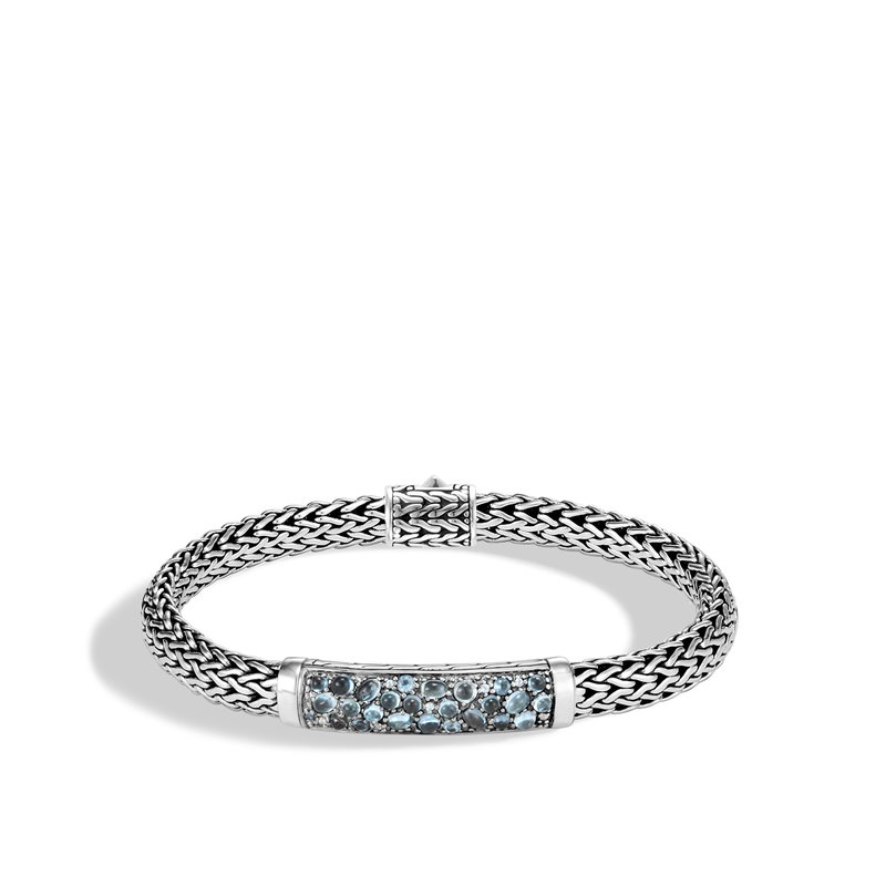 JOHN HARDY Classic Chain 6.5MM Station Bracelet in Silver with Gemstone