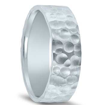 N17194 - Men's Wedding Band with Organic Finish