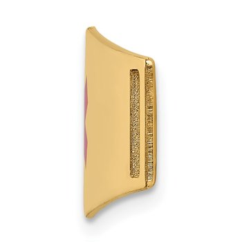 14K Epoxy Enameled Medical ID Ctr Soft Diamond Shape Plate # 820