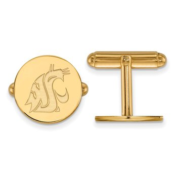 Gold-Plated Sterling Silver Washington State University NCAA Cuff Links