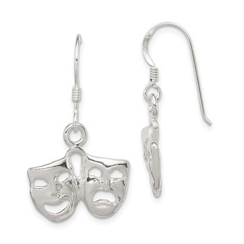 Sterling Silver Comedy/Tragedy Earrings