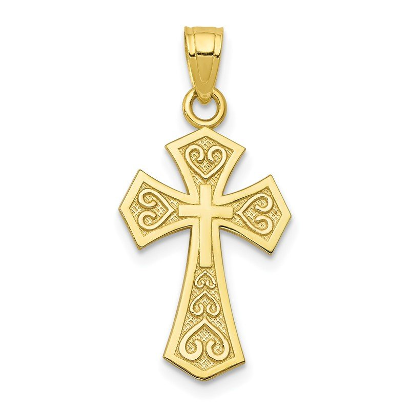 Quality Gold 10k Reversible Cross Charm