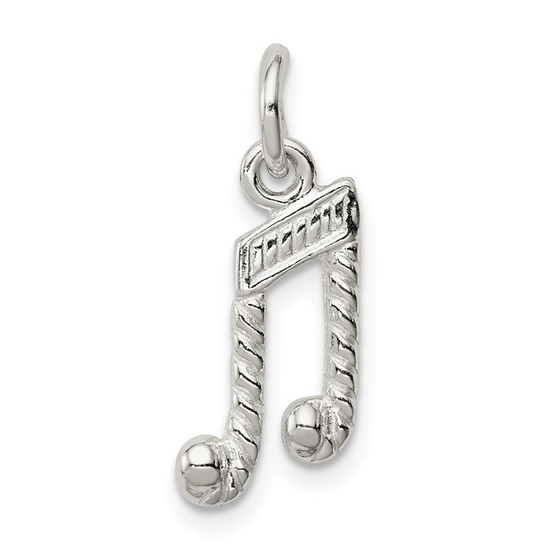Quality Gold Sterling Silver Music Notes Charm